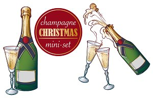 Champagne Christmas Mini-set