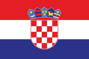 Vector of Croatian flag.