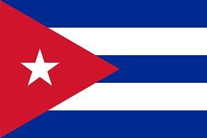 Vector of Cuban flag.
