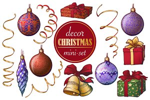 Christmas Decorations Mini-set