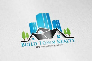 Build Town Realty Logo Template