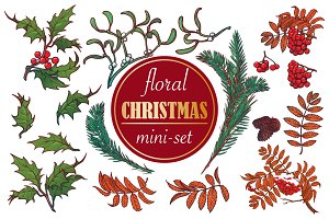 Floral Christmas Mini-set