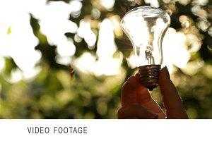 Video Footage Sun through the bulb