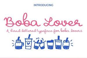 Boba Lover Script Font
