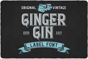 Ginger Gin typeface