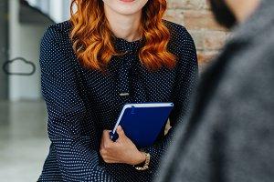 Young job hunter at a job interview
