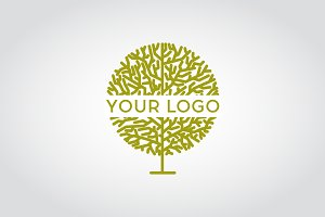 Vector linear tree logo.