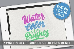 Watercolor brushes for Procreate app