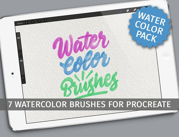 Watercolor brushes for Proc-Graphicriver中文最全的素材分享平台