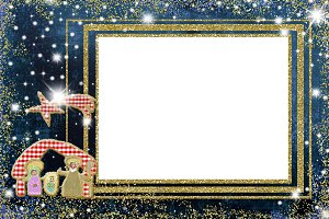 Cute Nativity Scene Christmas frames