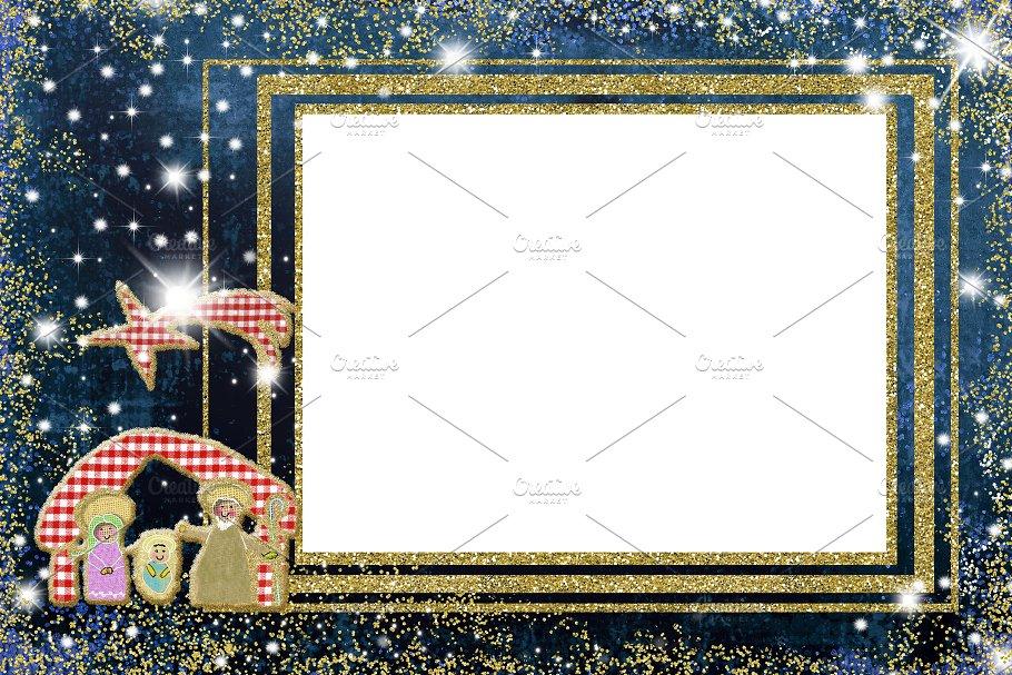cute nativity scene christmas frames holidays