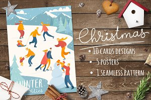 Christmas cards and posters