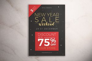 New Year Sale Weekend Flyer