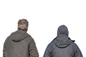 Men Watching Back View Photo