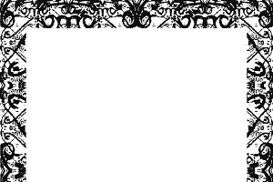 Black and White Ornate Mosaic Seamless Pattern