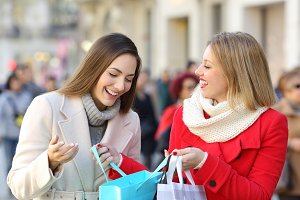 Two shoppers shooping