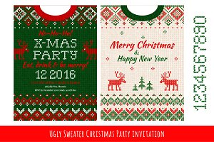 Ugly Sweater Х-mas Party Invite (#3)