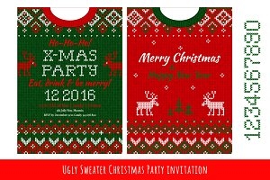 Ugly Sweater Х-mas Party Invite (#2)