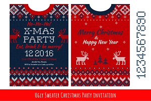 Ugly Sweater Х-mas Party Invite (#1)