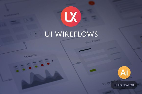 UI Wireflows for Illustrato-Graphicriver中文最全的素材分享平台