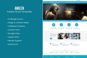 Ameen - Adobe Muse Template