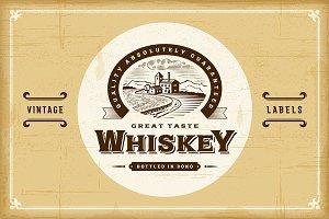 Vintage Alcohol Labels Set
