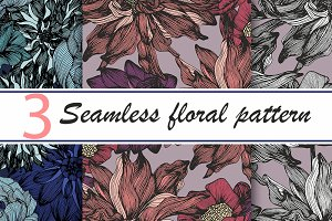 SALE! 50% Seamless floral patterns