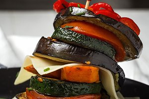 Mix of fresh vegetables on the grill