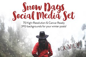 Snow Days Social Media Set (75 JPGs)