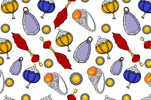 Color jewelry Vector pattern