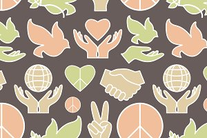 Peace Icons pattern