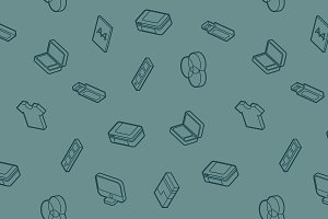 Polygraphy outline isometric pattern