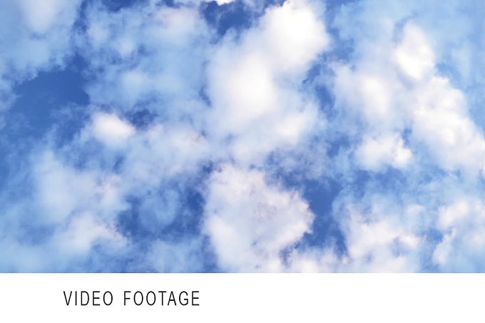 Clouds in the sky. Timelapse - Nature