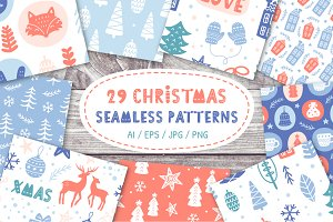 Nordic Christmas Seamless Patterns