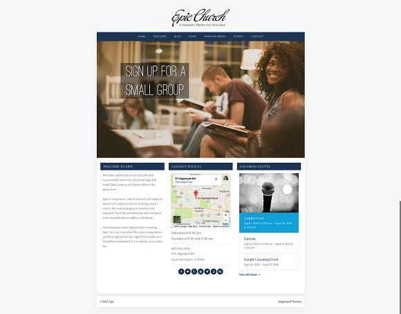 Epic Church - WordPress Theme