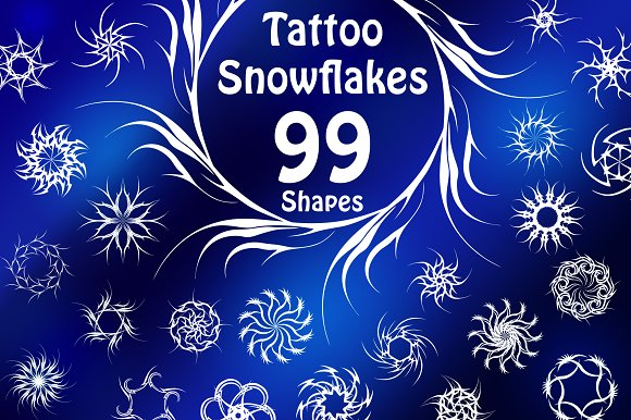 99 Tattoo Snowflake Shapes