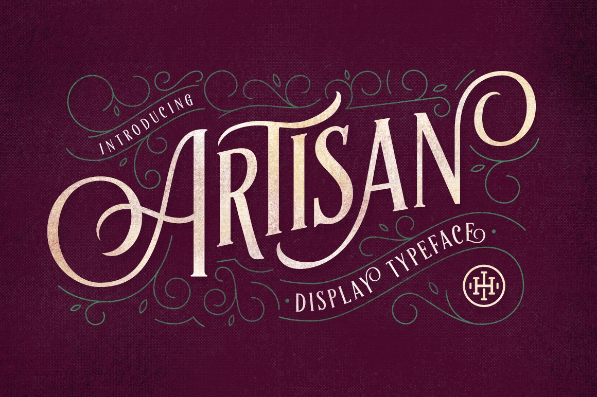 Artisan Display Typeface Fonts Creative Market