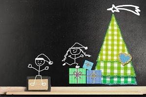 Funny Christmas blackboard card