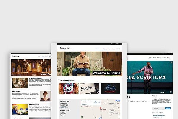 WordPress Non-Profit Themes: Organized Themes - Pneuma - Church WordPress Theme