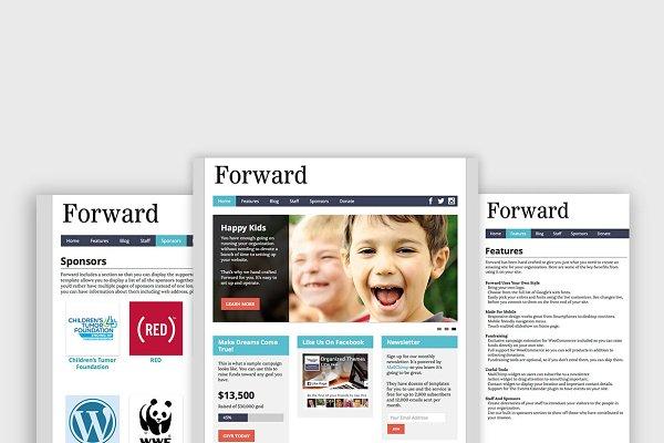 WordPress Non-Profit Themes: Organized Themes - Forward - Nonprofit WordPress Themes