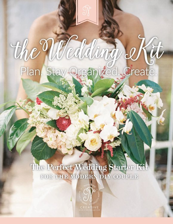 printable wedding planning kit templates creative market