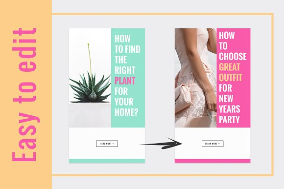 COLORFUL Instagram Stories in Instagram Templates - product preview 3