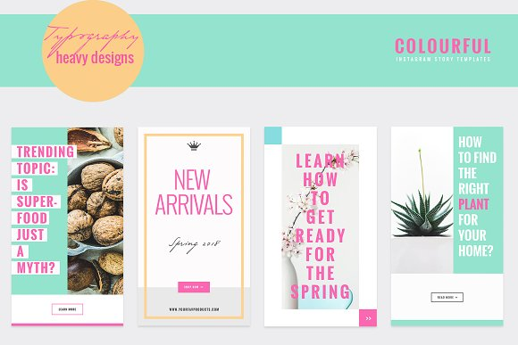 COLORFUL Instagram Stories in Instagram Templates - product preview 5