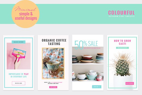 COLORFUL Instagram Stories in Instagram Templates - product preview 6