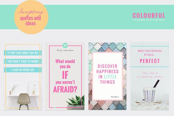 COLORFUL Instagram Stories in Instagram Templates - product preview 8