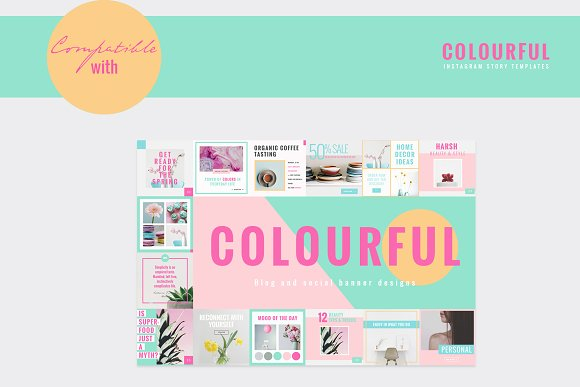 COLORFUL Instagram Stories in Instagram Templates - product preview 9