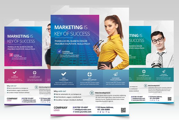 Corporate Ad - PSD Flyer Te-Graphicriver中文最全的素材分享平台