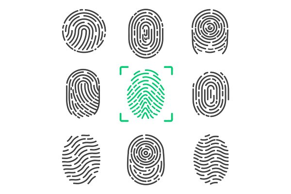 Collection of Fingerprints on Vecto…