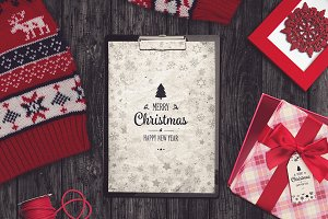 Christmas A4 Paper Mock-up #1