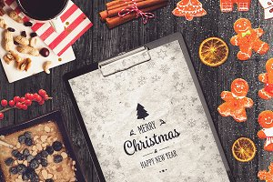 Christmas A4 Paper Mock-up #6